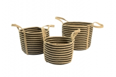 Jute & cotton rope baskets