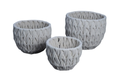 Set of 3 cotton rope woven baskets