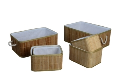 Set of 6 bamboo baskets