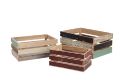 Set of 3 recycled wood crate