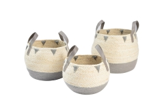 Maize leaf and paper storage baskets