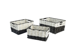 PE and wire storage baskets