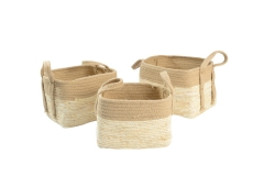 Jute and maize leaf storage baskets